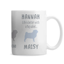 Personalised Pug Dog Breed Mug