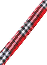 Red Checked Tartan Fabric Collar