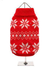 Red Snowflake Knitted Sweater