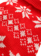 Red Snowflake Knitted Jumper