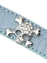 Skull & Crossbones Diamante Leather Lead