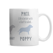 Personalised Staffordshire Bull Terrier Dog Breed Mug