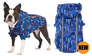 Here at Smiley Myley is our Storm Print Rainstorm Raincoat which will protect your Dog from the rain