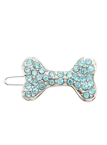 Bone Swarovski Hair Clip / Dog Barrette