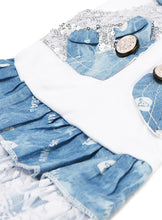 T-Shirt & Blue Denim Dress for Dogs from Smiley Myley