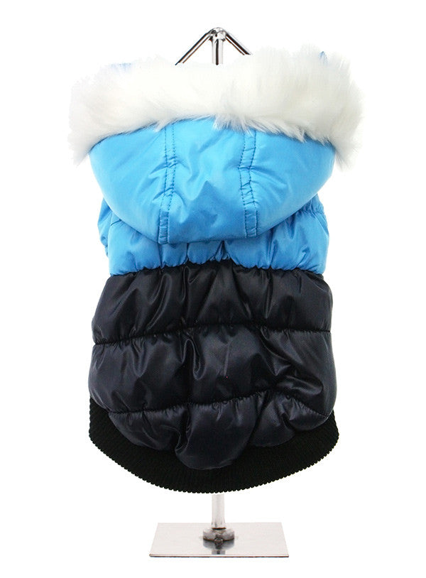 Thermo Blue & Black Quilted Parka
