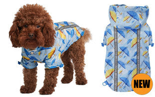 Here at Smiley Myley is our Umbrella Print Rainstorm Raincoat which will protect your Dog from rain