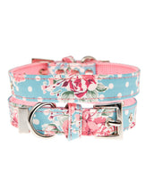 Vintage Rose Floral Fabric Collar