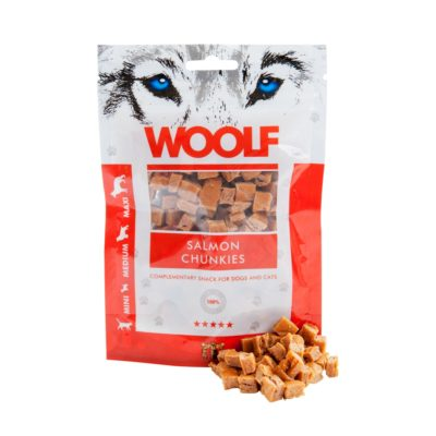 Woolf - Salmon Chunkies 100g