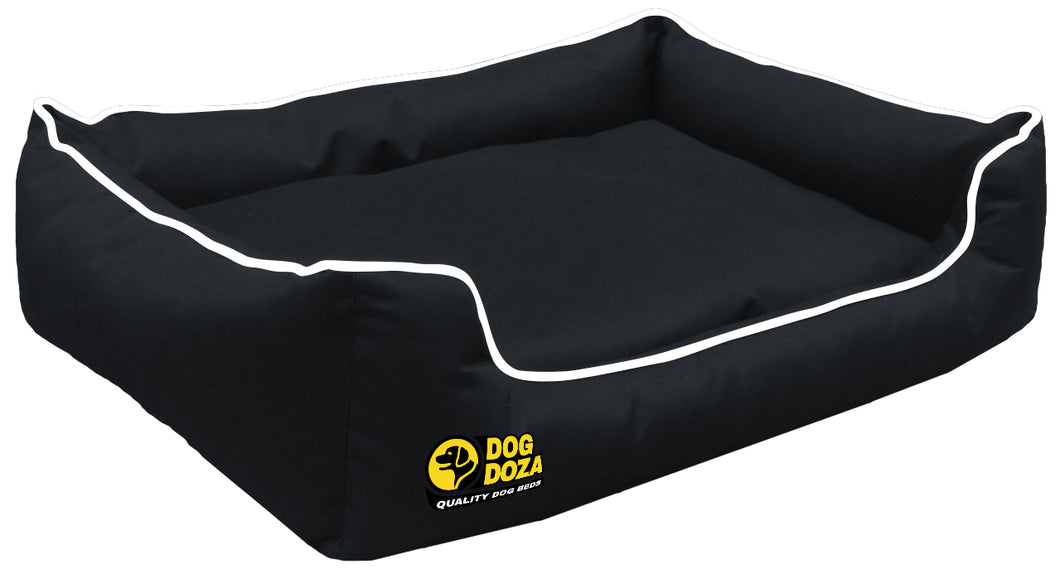 Dog Doza - Waterproof Memory Foam Settee in Black