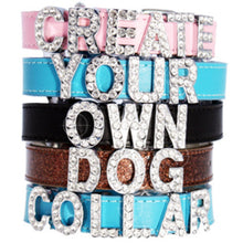 Black Leather Personalised Dog Collar