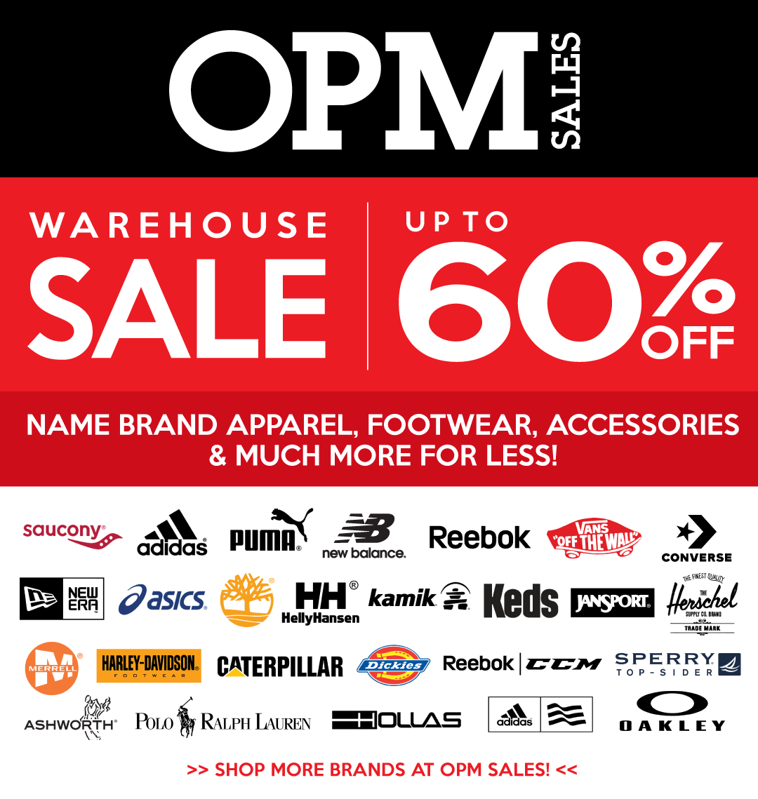 name brand apparel, footwear, accessories and more for less