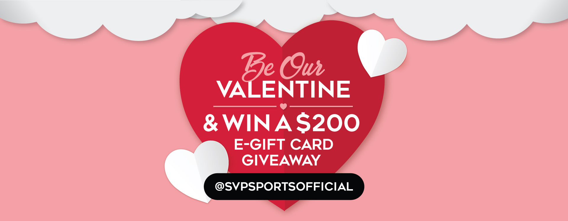 Be Our Valentine $200 E-Gift Card Instagram Giveaway
