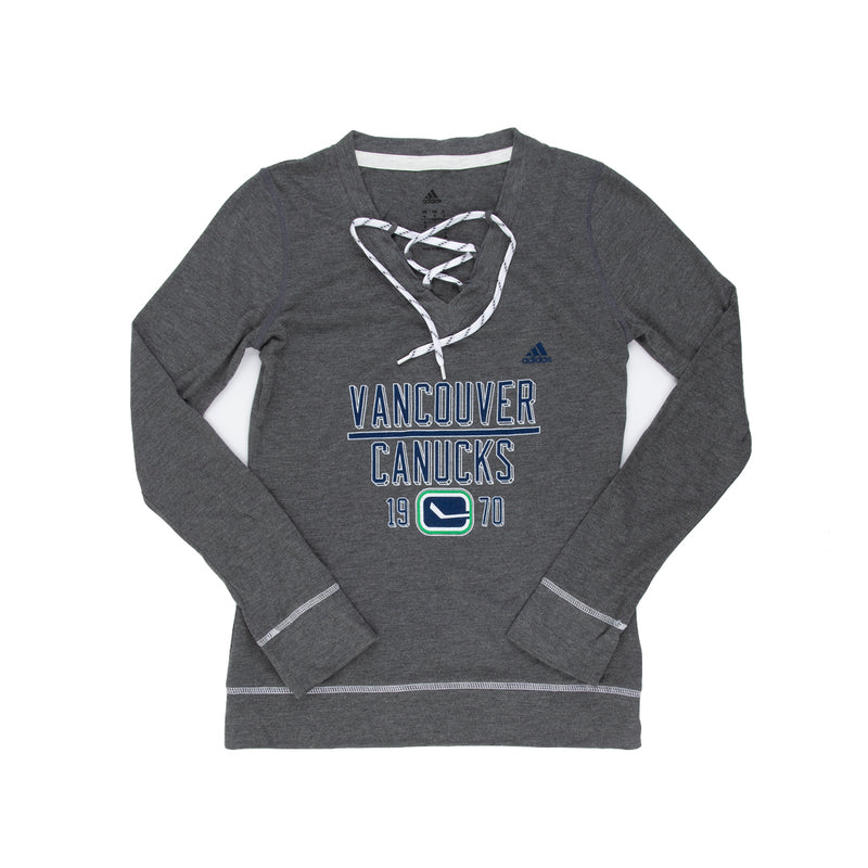 adidas - Women's Vancouver Canucks New Skate Lace Top (CT6976)
