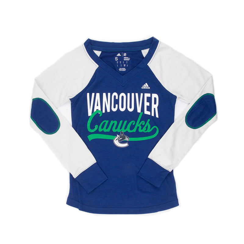 adidas - Women's Vancouver Canucks Long Sleeve Constructed Tee (CC6843)