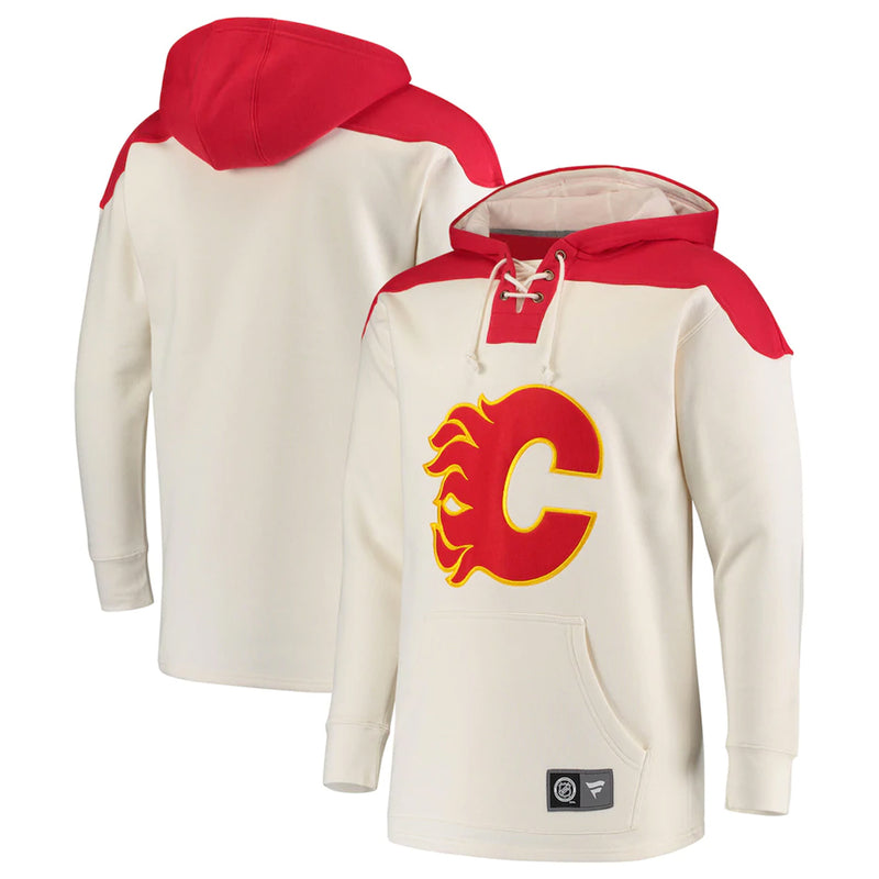 Fanatics - Men's Calgary Flames Breakaway Lace Up Hoody (6442 AWR 2C AHR0)