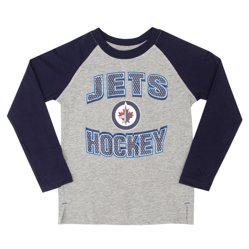 NHL - Kids' Winnipeg Jets Long-Sleeved Tee (HK5B3HAGQ WNP)