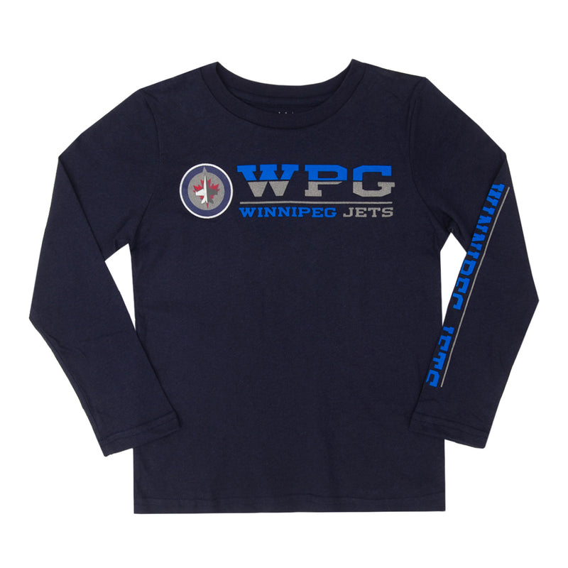 NHL - Kids' (Junior) Winnipeg Jets Long-Sleeved Tee (HK5B3HASQH04 WNP)