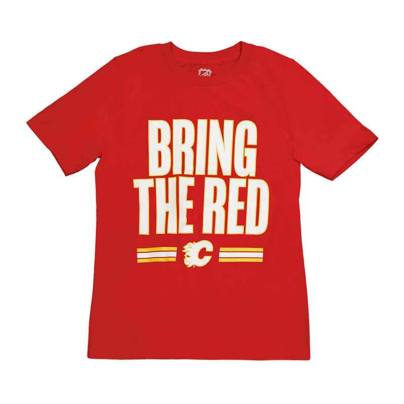 NHL - Kids' (Junior) Calgary Flames Bring The Red Tee (HK5B7HCCAH01 FLM)