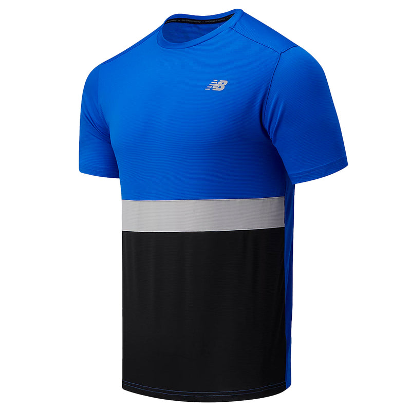 New Balance - Men's Stripe Accelerate Short Sleeve Tee (MT03207 CO)