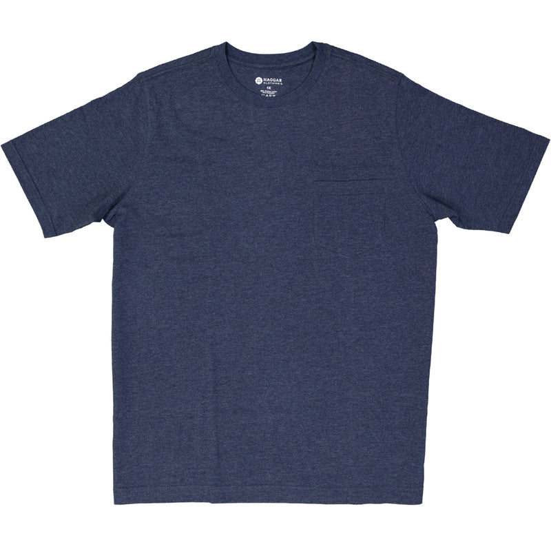 Haggar - Men's Pocket Tee (HPKT-CPY-NVY)