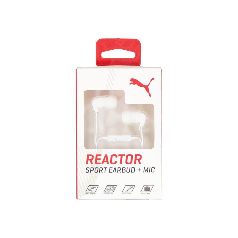 Puma - Reactor Sport Earbud and Mic (PMAD3061 WHT)