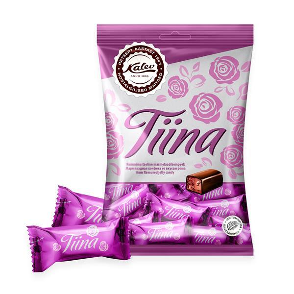 Tiina rum flavoured jelly candy 175g | Kalev