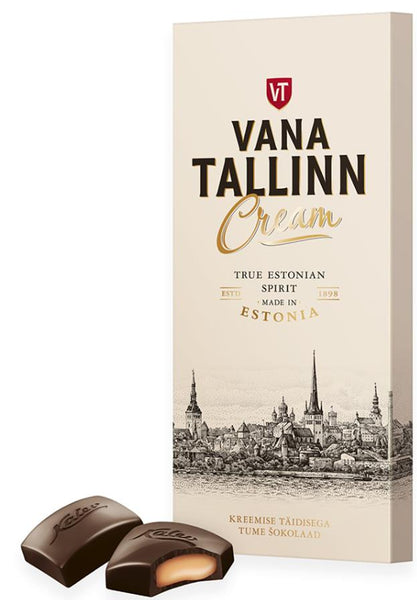 Vana Tallinn Cream dark chocolate 104g | Kalev
