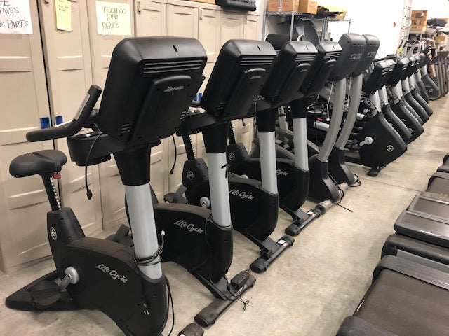 life fitness upright cycle stationary bike pre owned fitness equipment