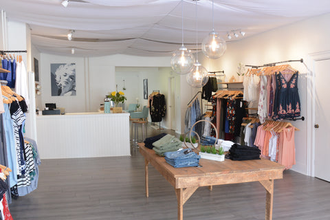 the interior of Luna Boutique from the front door