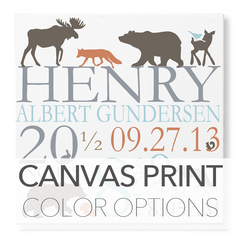 canvas print color options