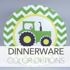 Dinnerware color options
