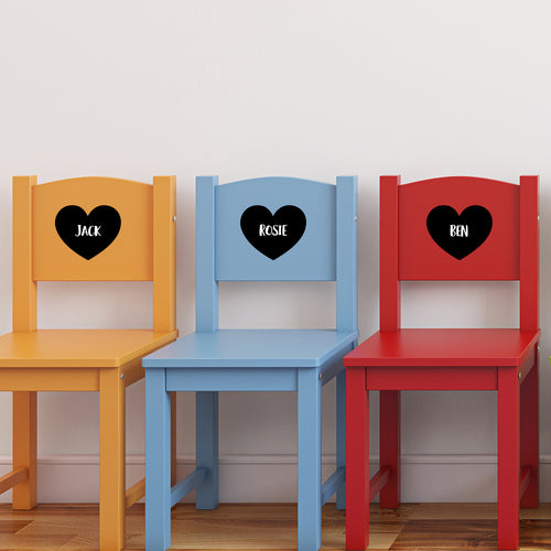 Chalkboard Heart Labels Stickers
