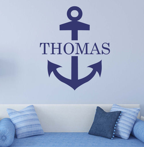Nautical Anchor Boy Personalized Kids Wall Decal