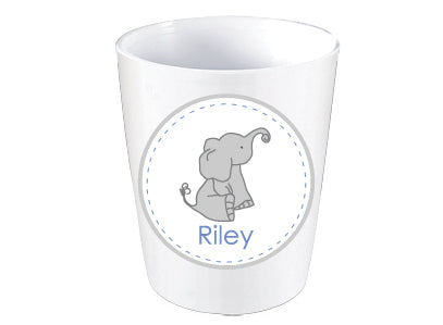 Elephant Dots Personalized Melamine Dinnerware Set, Plate, Bowl or Cup
