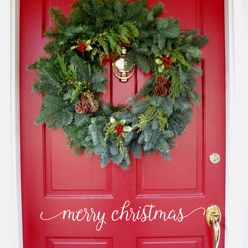 Merry Christmas Door Vinyl Decal