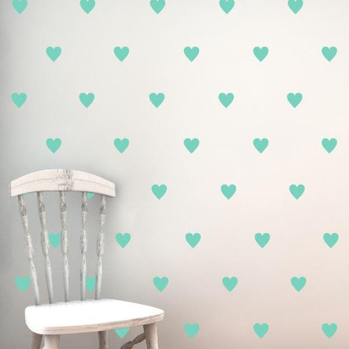 Hearts Pattern Wall Decal
