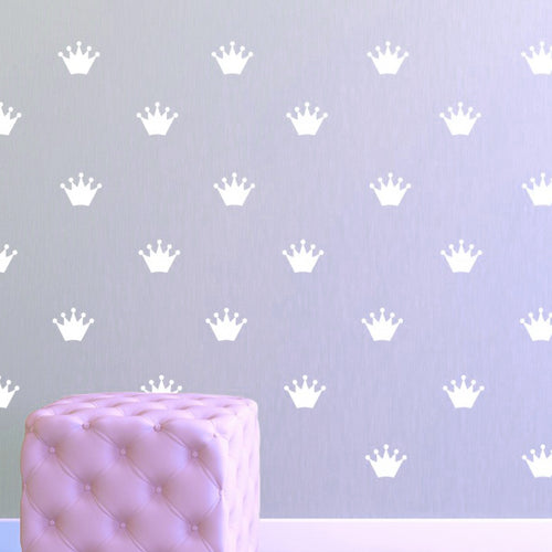 Princess Crown Pattern Wall Decal