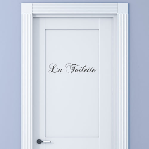 La Toilette Door Vinyl Sticker