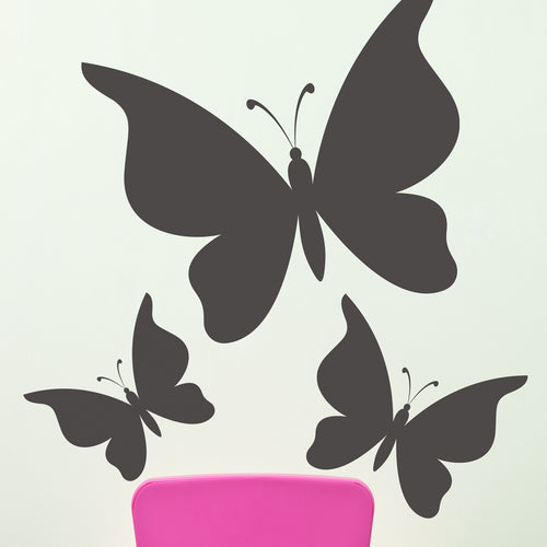 Butterfly Trio Chalkboard Wall Decals