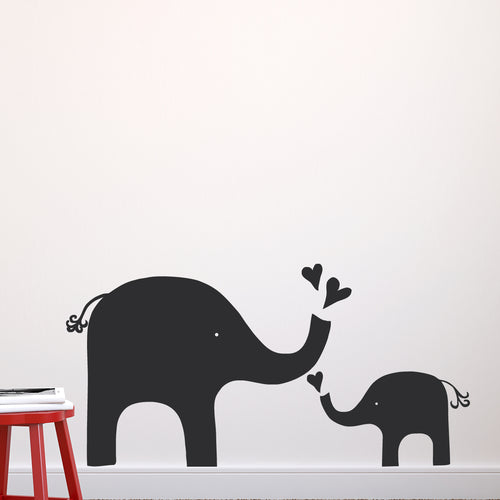 Elephant Love Chalkboard Wall Decals