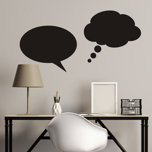 Dream and Talk Bubbles Chalkboard Wall Decal
