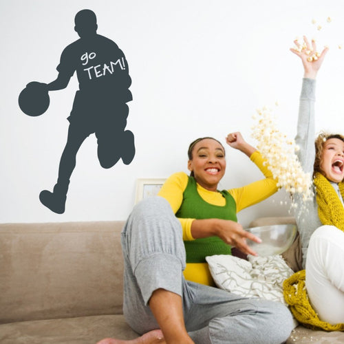 Basketball Player Chalkboard Wall Decal
