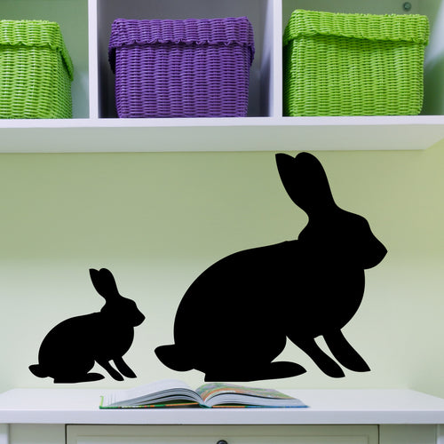 Bunny Chalkboard Wall Decal