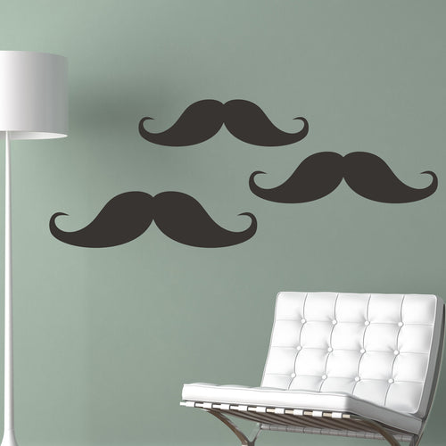 Mustach Chalkboard Set Wall Stickers