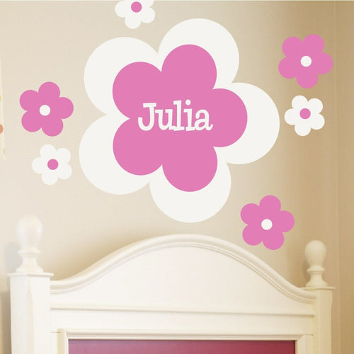 Personalized Flower Power Kids Wall Decal