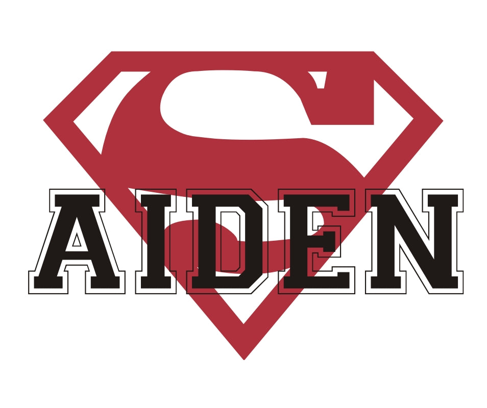 Superman Personalized Name Kids Wall Decal