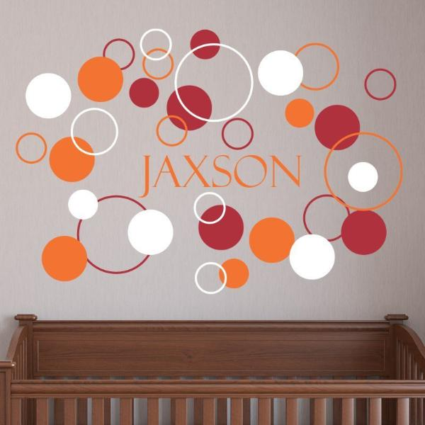 Boys Dots and Circles Kids Wall Decal