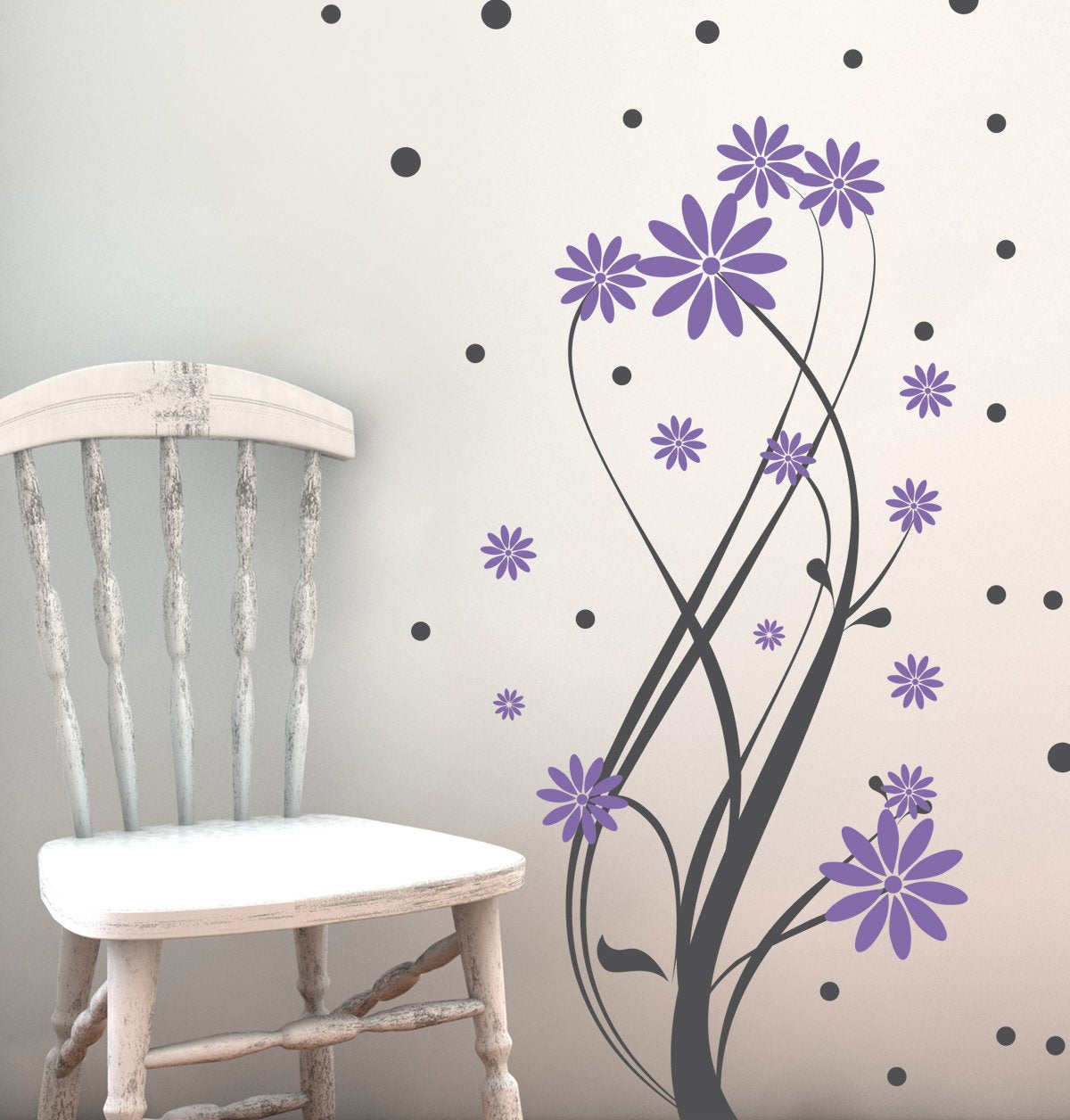 Intertwined Flower Vine Kids Wall Decal