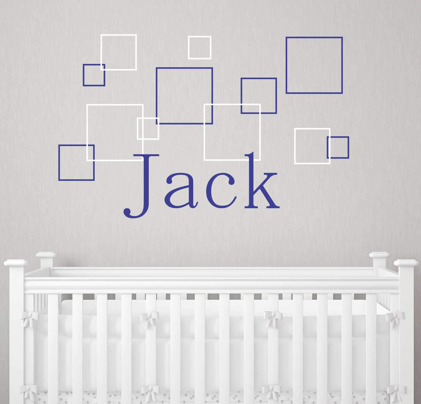 Jack's Squares Kids Wall Decal
